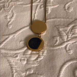 Extra-long modern pendant necklace